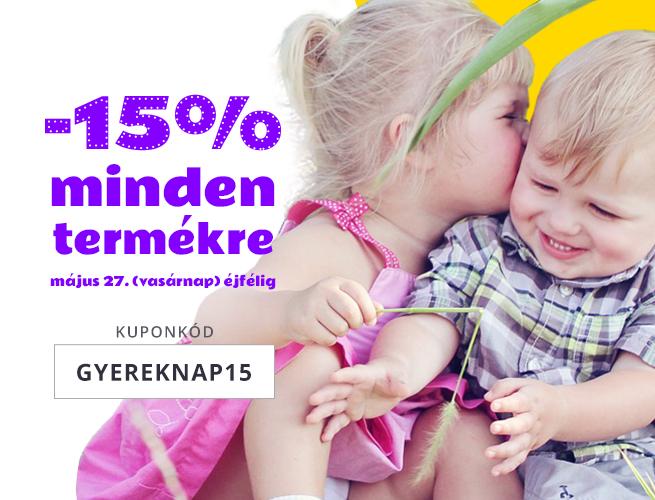 -15% GYEREKNAPIG