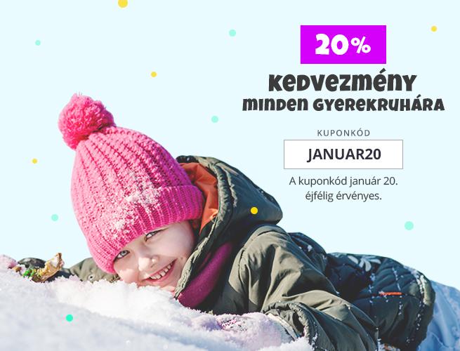 20% kedvezmény minden gyerekruhára!