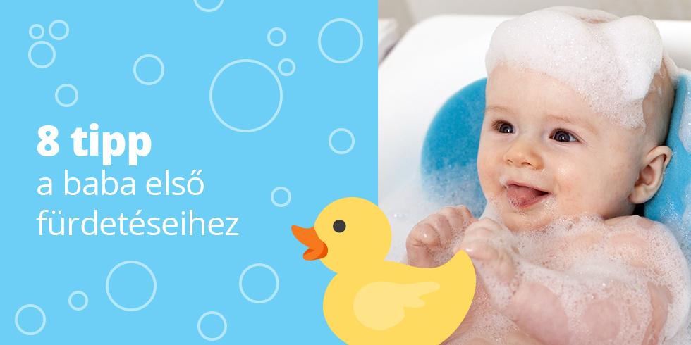 8 tipp az első baba fürdetéshez