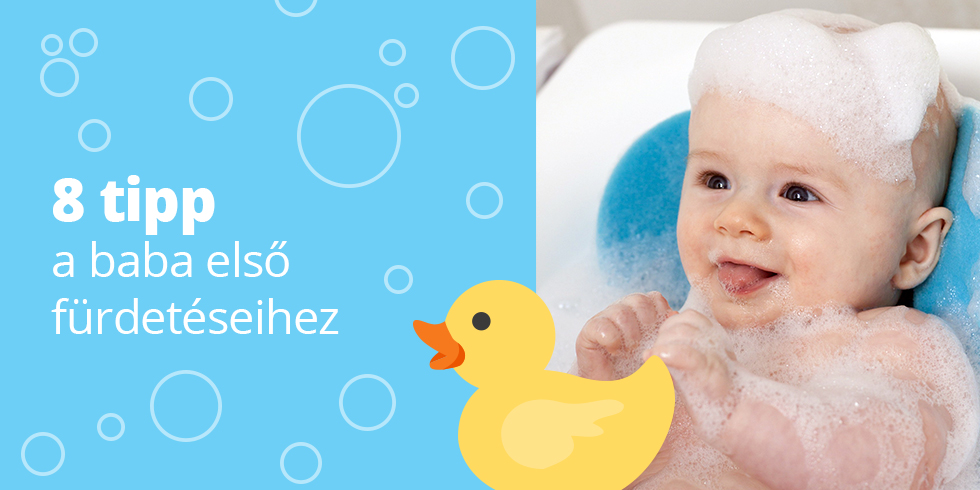8 tipp a baba első fürdetéseihez