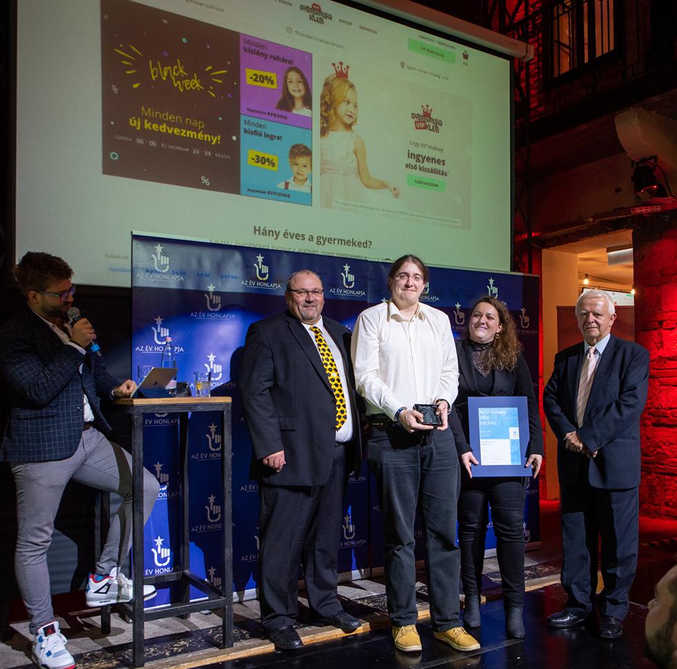 Az Év Honlapja 2019 - Gyerekruha Klub díjátadó