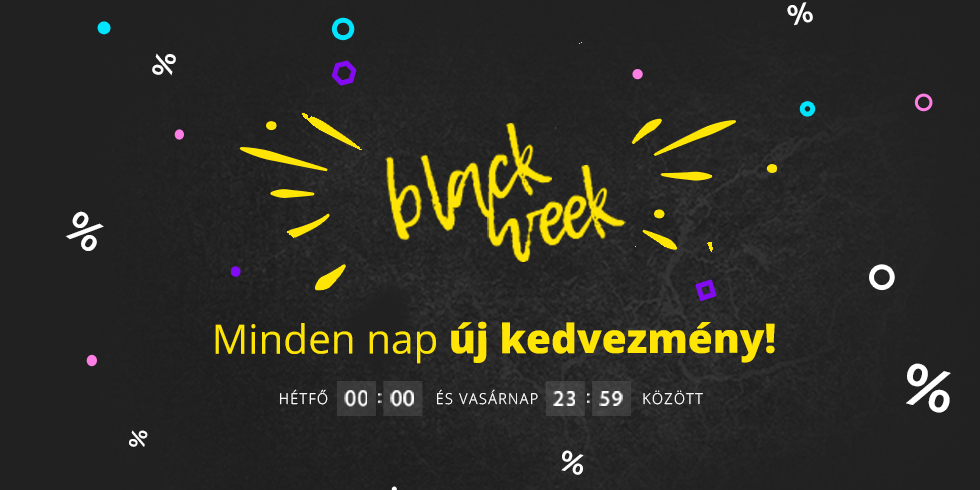 Minden nap új kedvezménnyel várunk   Black Week '20