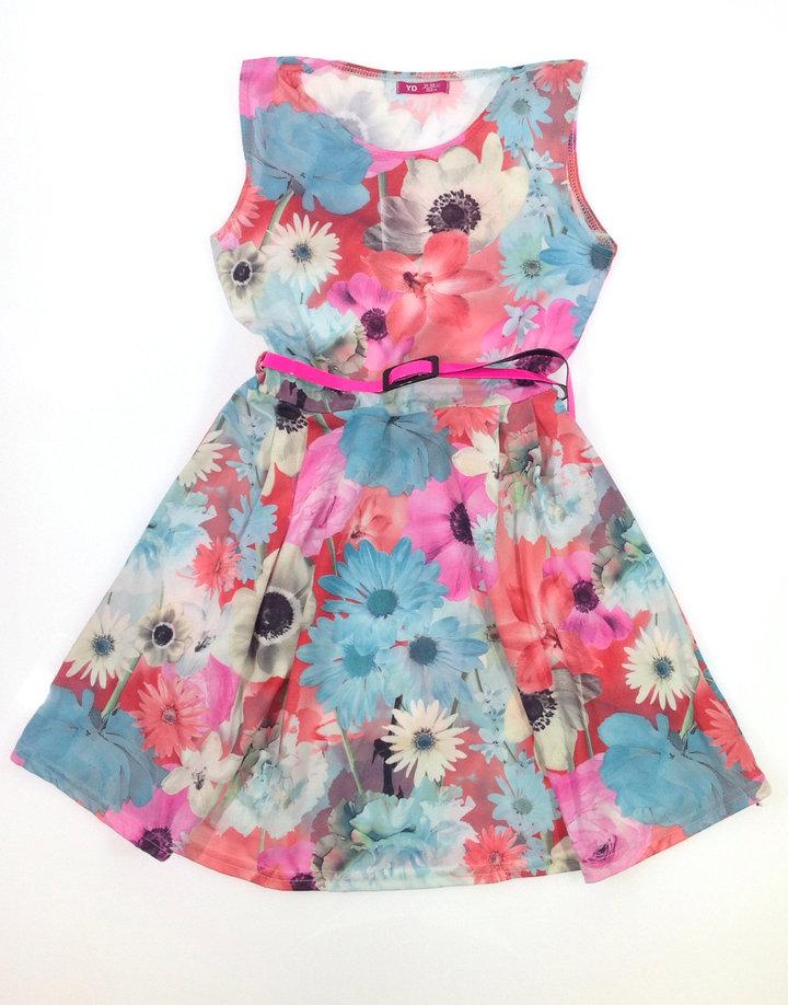 Y.d virág mintás kislány nyári ruha