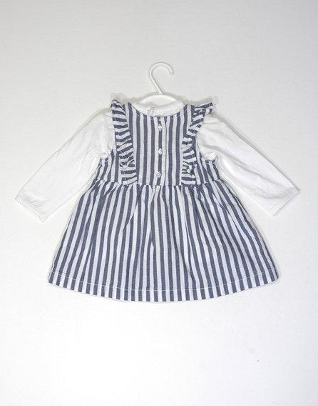 H&M csíkos ruha pólóval