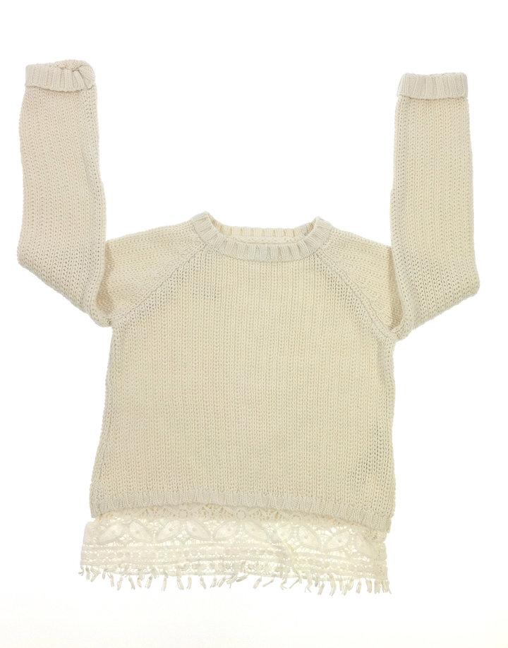 F F kötött kislány pulóver  607d42f14e