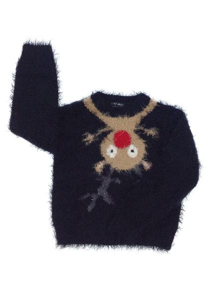 Next rénszarvas mintás kislány pulóver 3ead99ad91