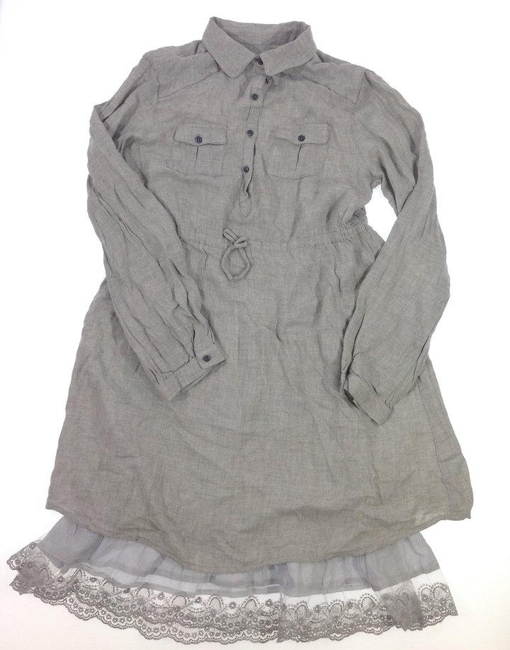 Zara két rétegű, fodros aljú ingruha