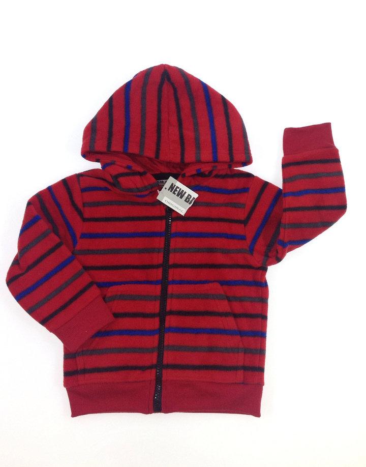 133e8be66 Piros csíkos kisfiú pulóver