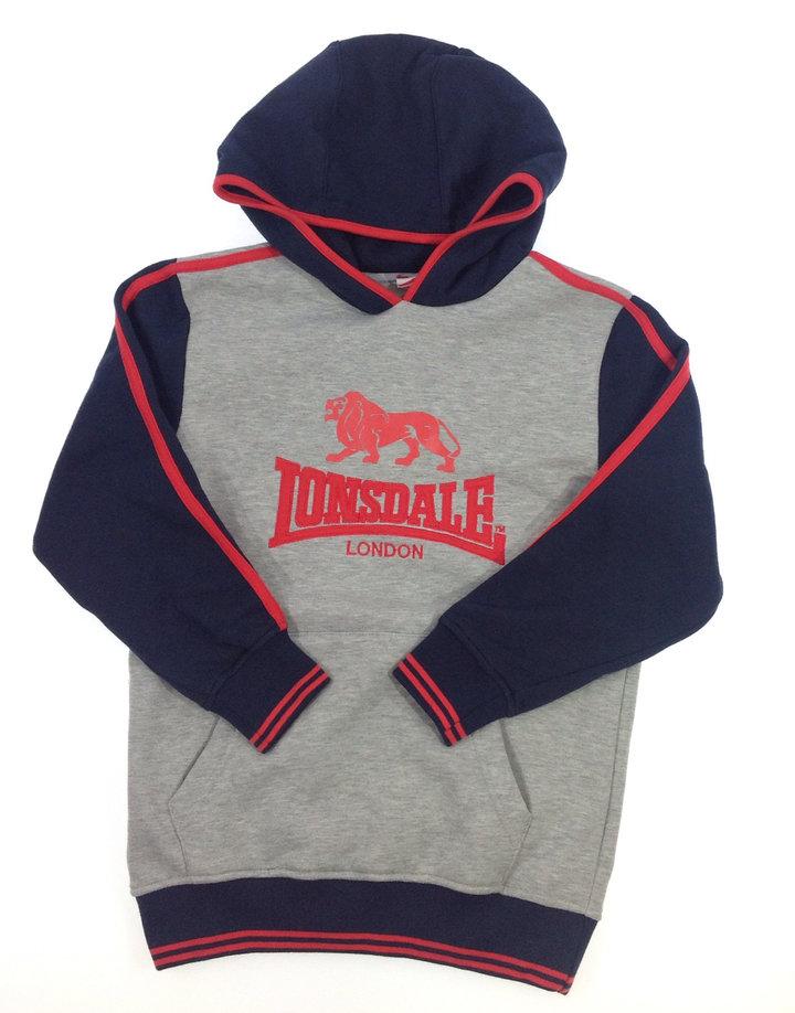 Lonsdale feliratos fiú pulóver  f74954b7a7
