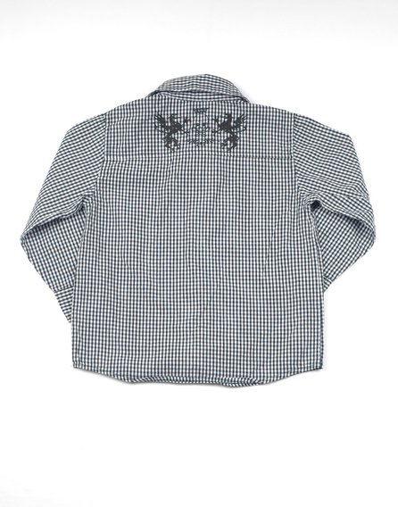 Dunnes kekete-fehér apró kockás ing