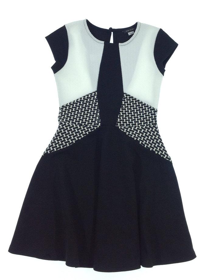 River Island fekete-fehér kislány alkalmi ruha  9df4a8da9a