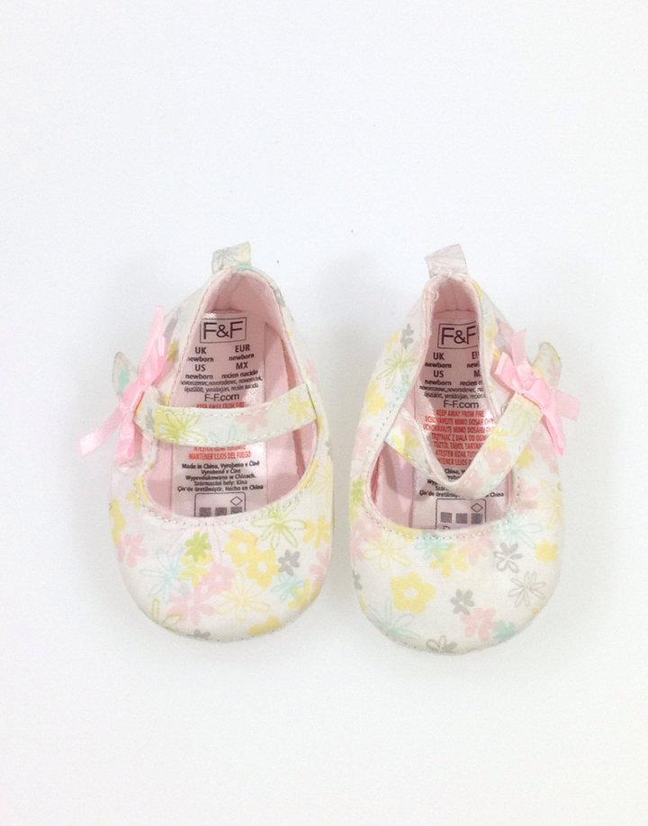 F F virág mintás baba cipő  ea75c6a28c