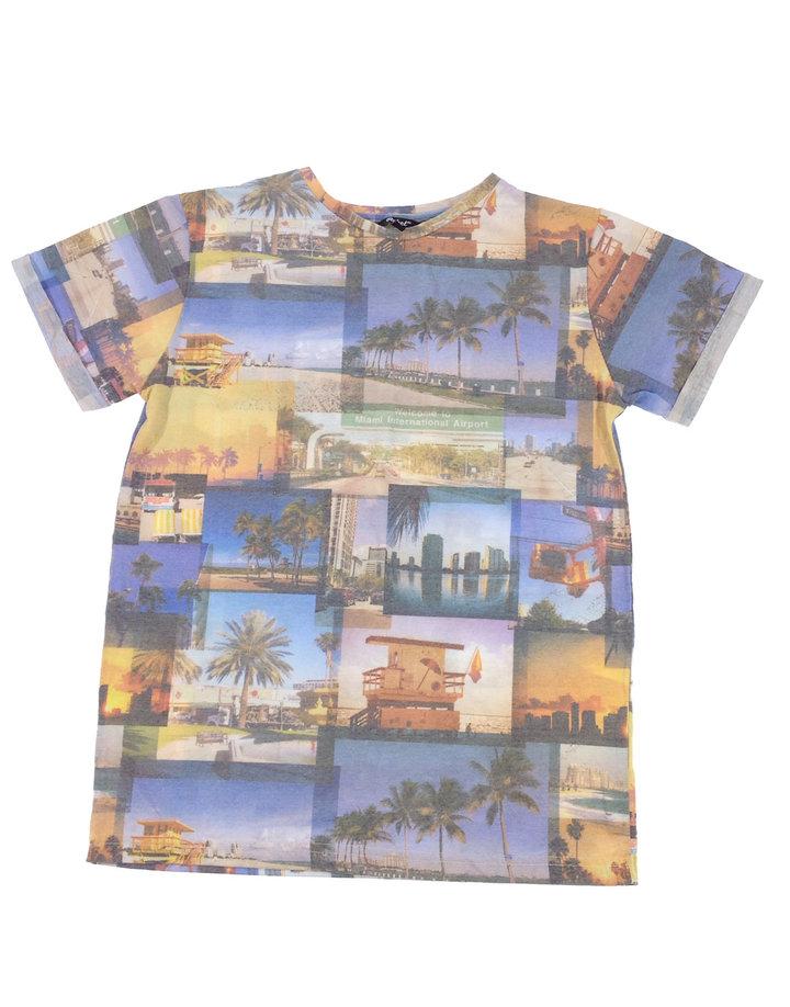 Rebel Miami mintás fiú póló  73810e5097