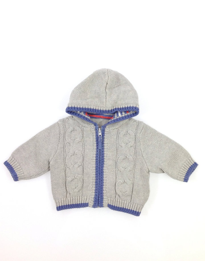 3cf9b2384f Mothercare szürke kötött baba pulóver | Gyerekruha Klub