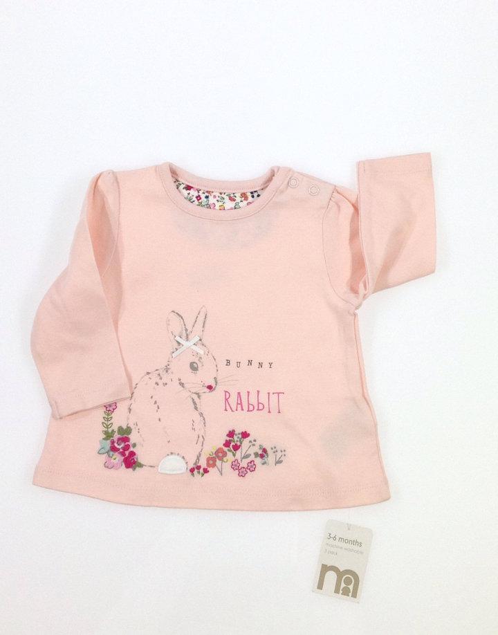 0011f90805 Mothercare nyuszi mintás baba felső   Gyerekruha Klub ?