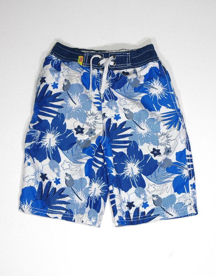 Kék hawaii mintás fürdőnadrág