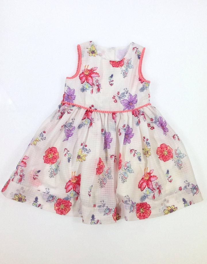 d64ae050f9 Matalan fehér virág mintás kislány ruha | Gyerekruha Klub ?