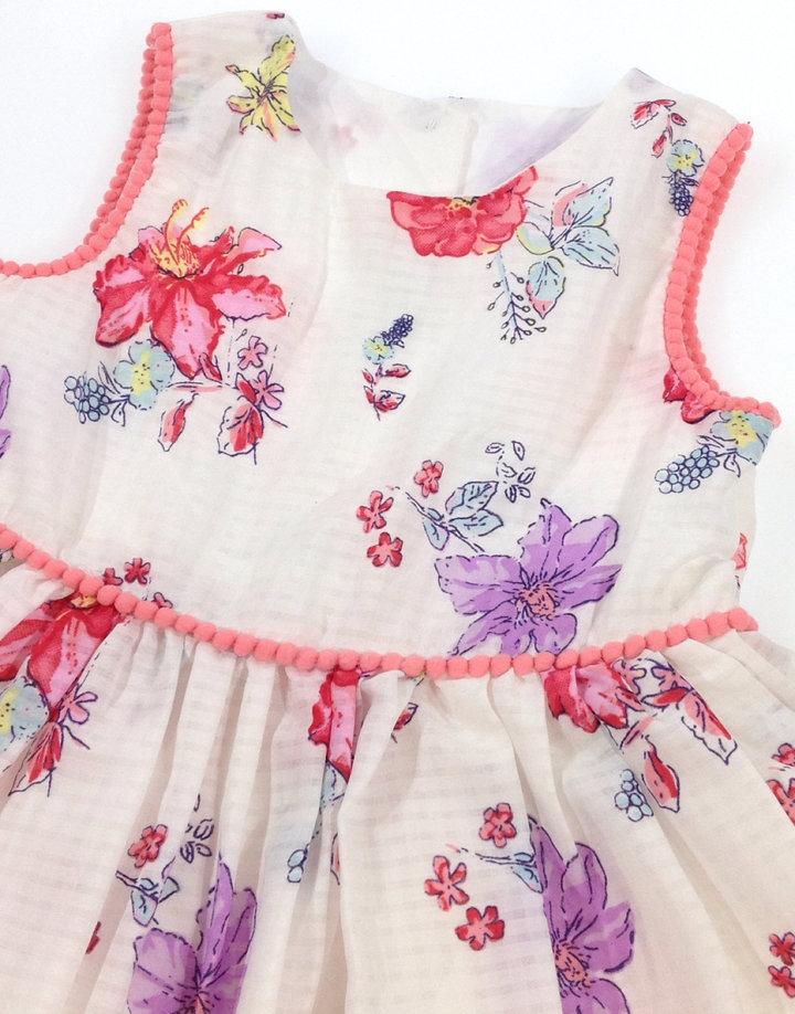 Matalan fehér virág mintás kislány ruha - 1990 Ft - (meghosszabbítva ... 2c01c2f61e