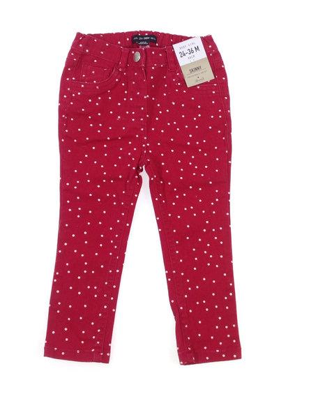 Denim Co. piros pöttyös kislány hosszúnadrág  322b5eec13