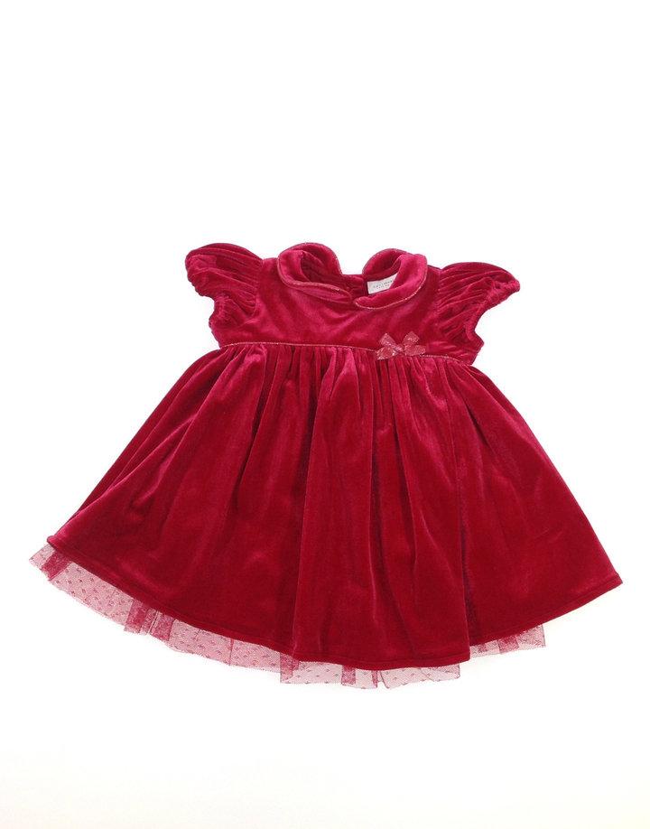 Next piros bársony baba alkalmi ruha  7004c0a05a
