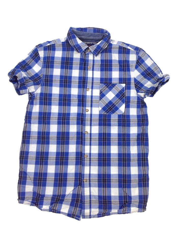 86a2564b84 Next kék nagykockás fiú ing | Gyerekruha Klub