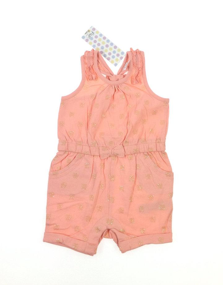 F F csillogós pillangó mintás baba rövidnadrágos ruha  2a693f321f