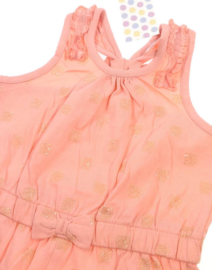 ... F F csillogós pillangó mintás baba rövidnadrágos ruha ... 6d545222e6