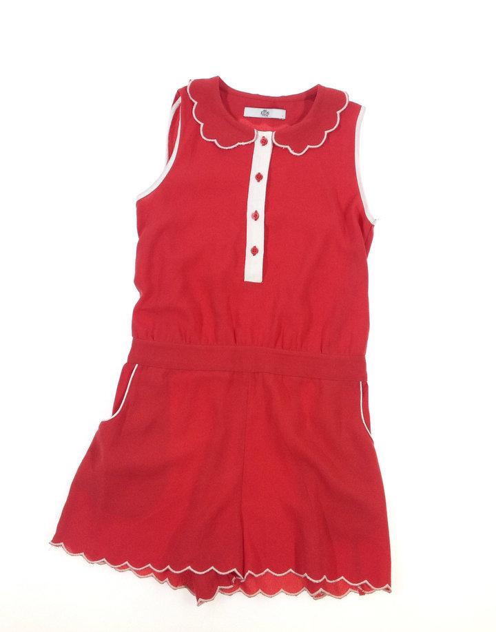 Marks   Spencer piros kislány rövidnadrágos ruha  2c869a51b7