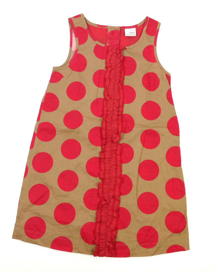 Next piros pöttyös kislány ruha  62cecb2f90