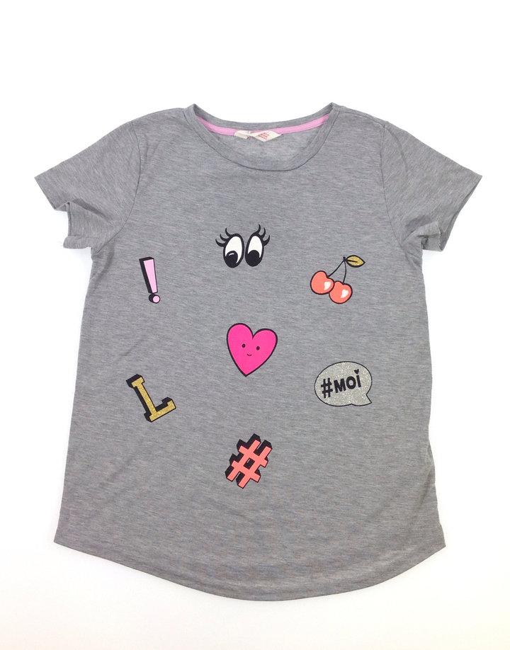 H M piktogram mintás lányka póló  4c75a850d7