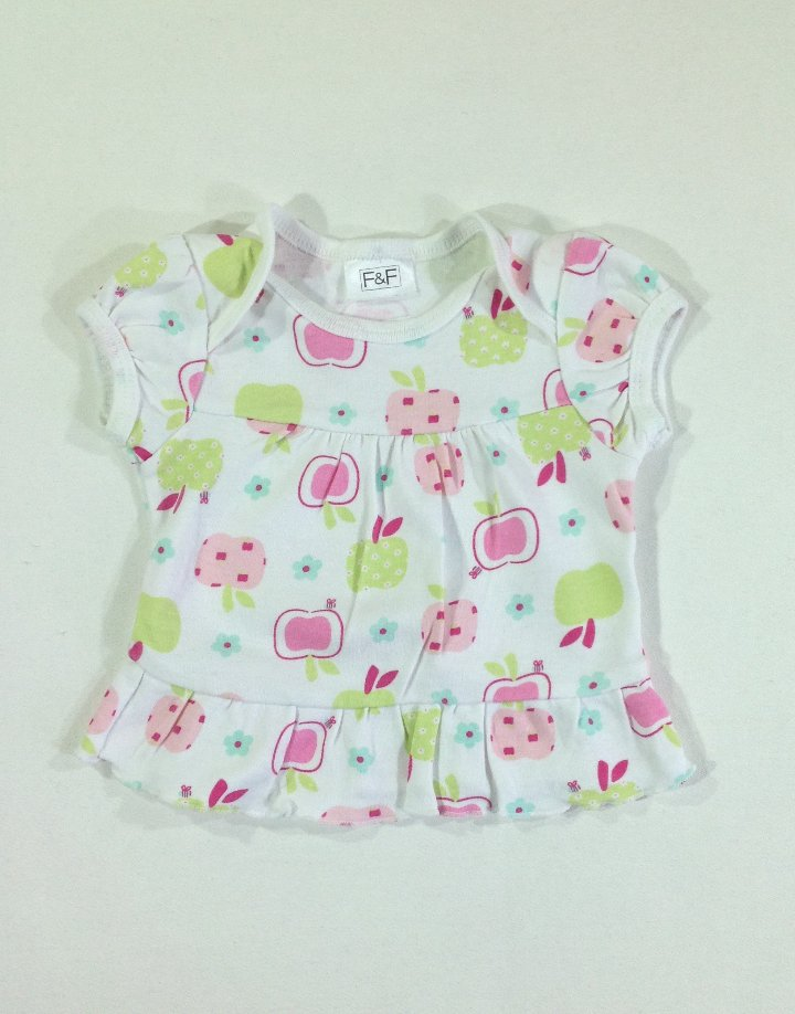 F&F gyümölcs mintás baba póló