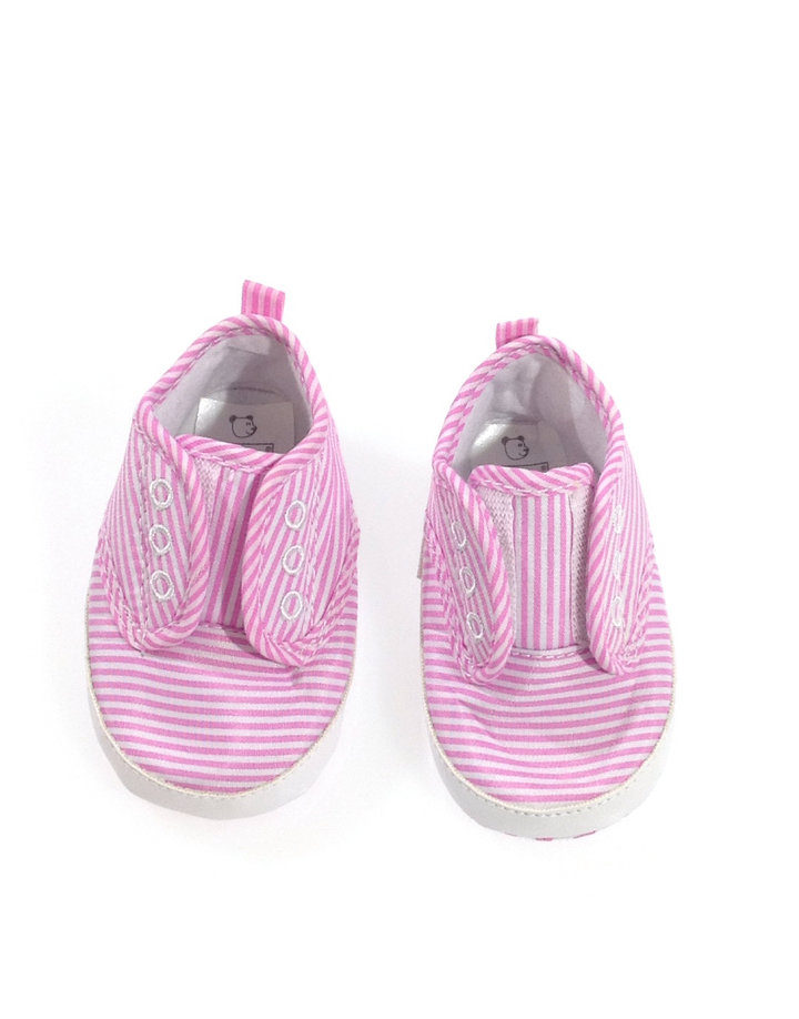 Essentials rózsaszín csíkos baba cipő  0752c2be93