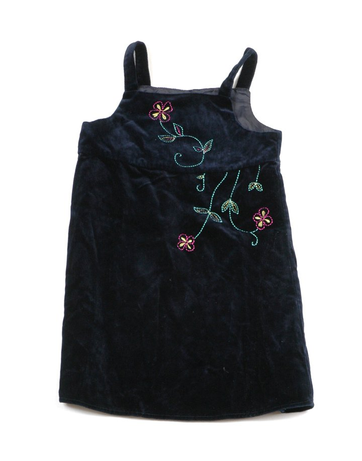 Sötétkék virág mintás alkalmi ruha