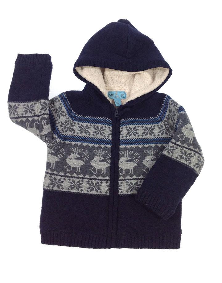 Sam   Jo norvég mintás vastag kisfiú téli pulóver  405f3f7ff4