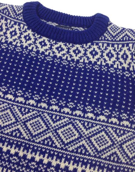 Next kötött mintás kisfiú pulóver