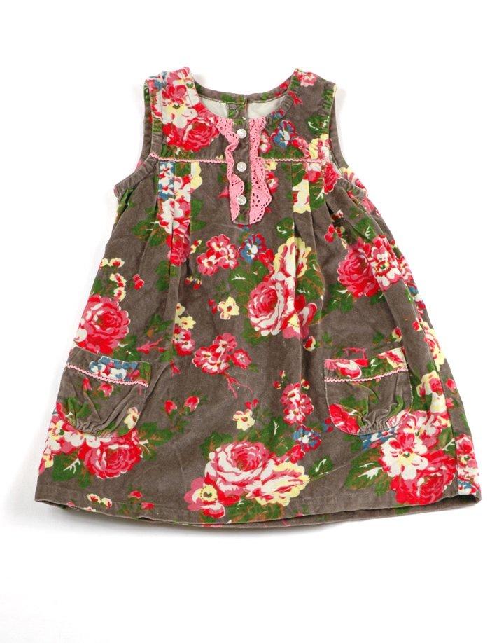 Bársony virág mintás kislány ruha