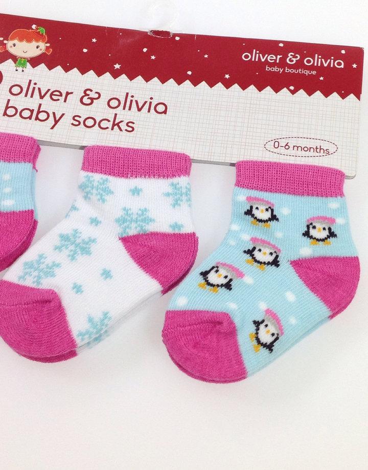 ... Oliver Olivia 3 db pingvin mintás baba zokni ... 5bbb97de54