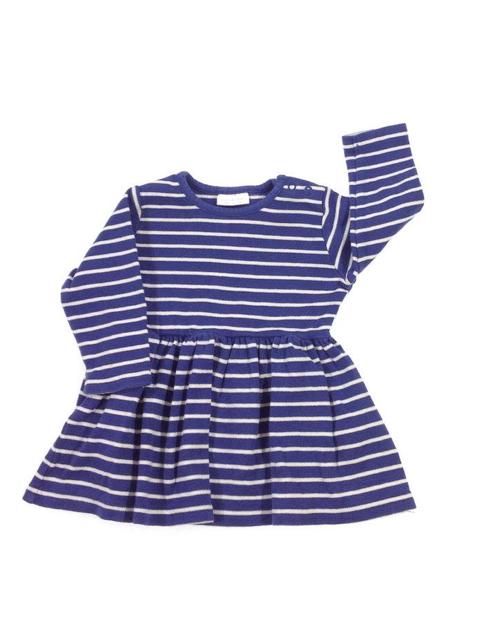 Next kék csíkos baba ruha  ec57e5b06d