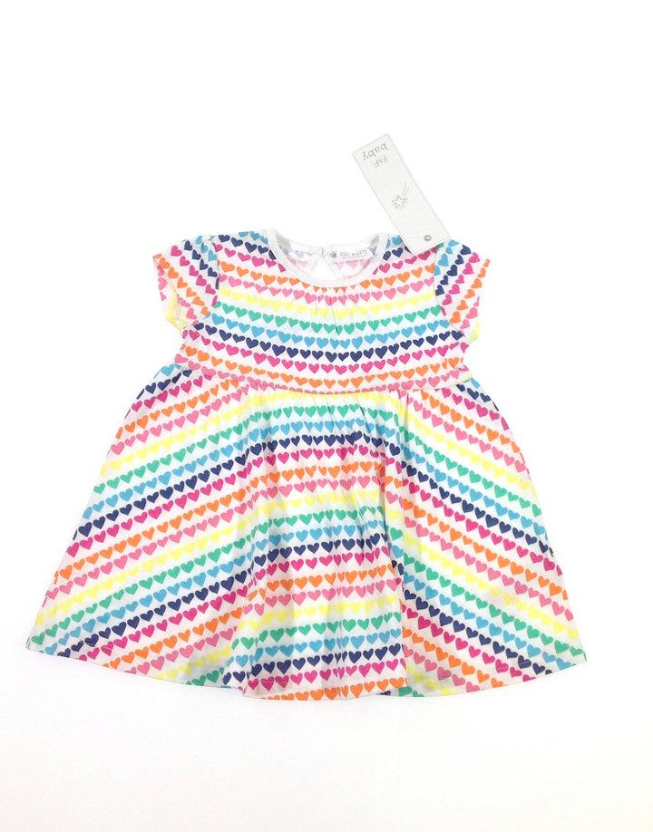 F F színes szívecske mintás baba ruha  e5bf98fb8e