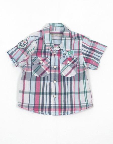Marks&Spencer kockás kisfiú rövid ujjú ing