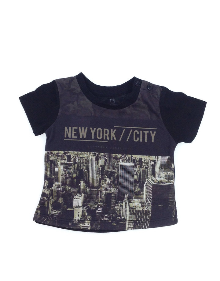 Early days New York mintás baba póló  899aadb6f8