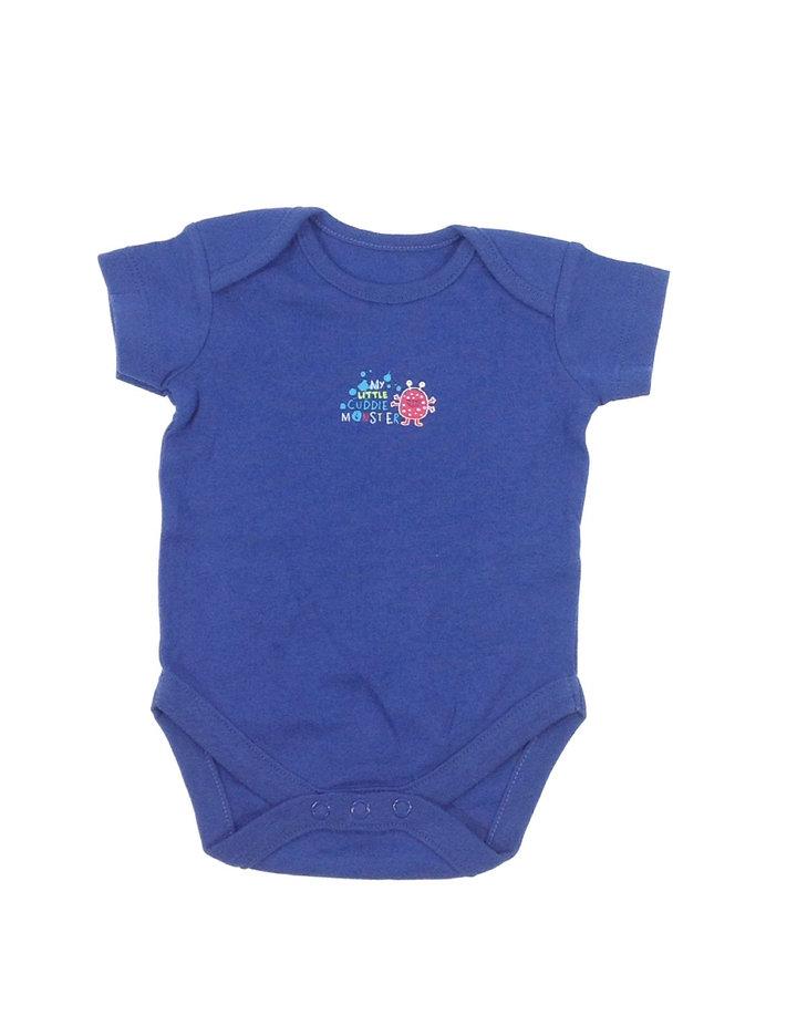St. Bernard kék szörnyecske mintás baba body ... 28f8720fd3