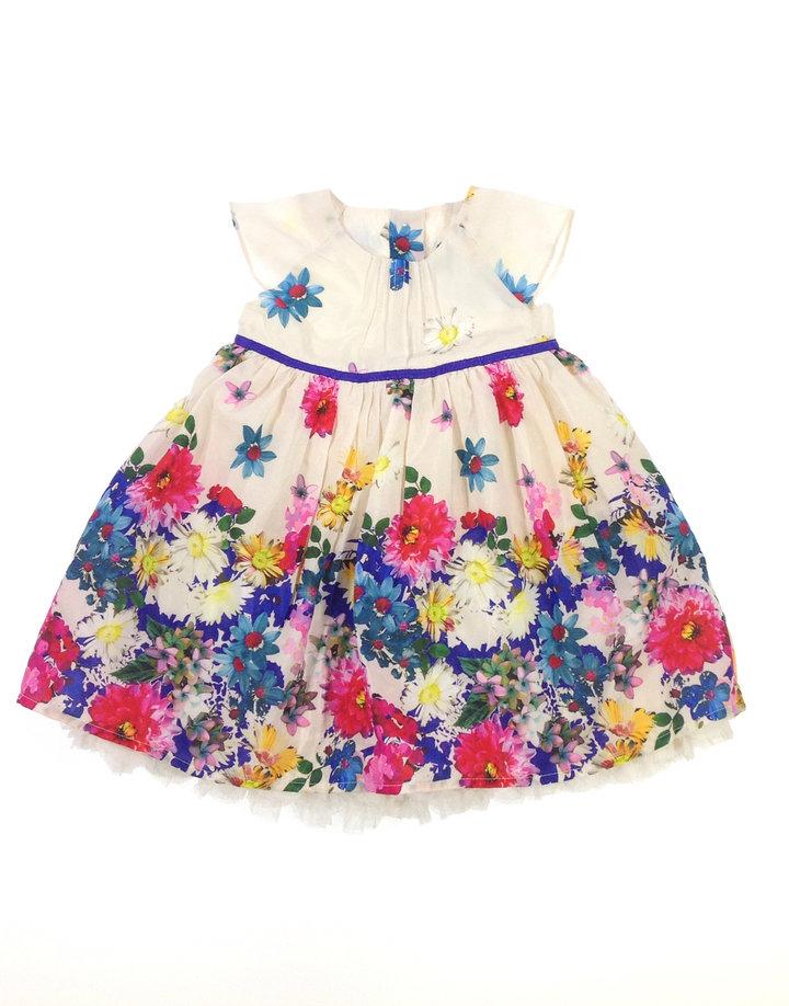 Mark   Spencer virág mintás baba alkalmi ruha  144175e576