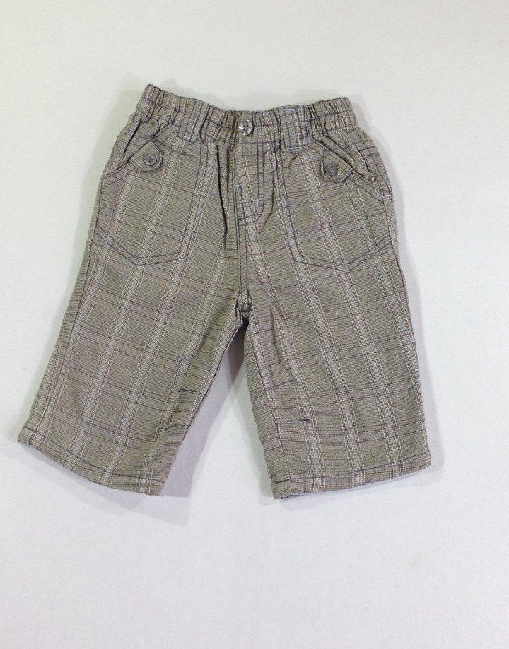 Next kockás vászon nadrág
