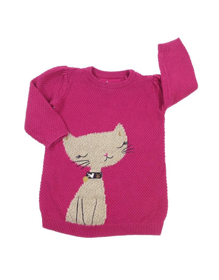 Tu cica mintás kislány kötött pulóver