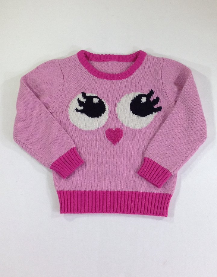 Csajos mintás kislány pulóver
