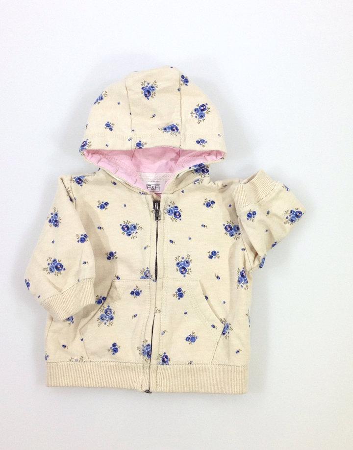 F F rózsa mintás baba pulóver  85ff187543