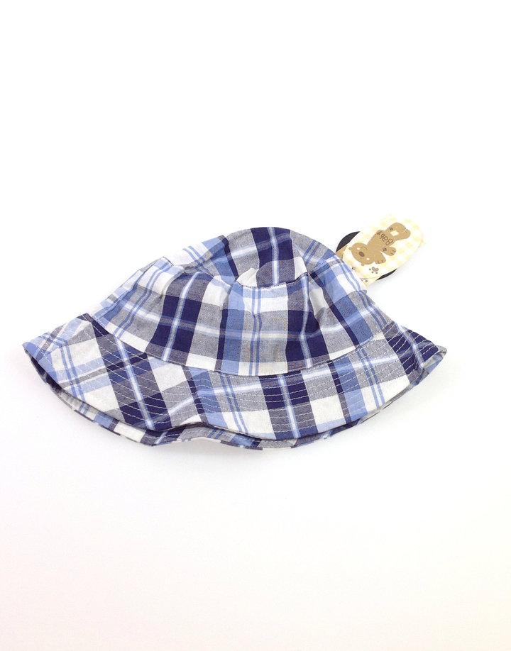 Baby kék kockás baba kalap  5af6f7dafa