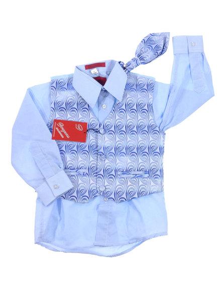 Georgeous világoskék kisfiú mellény inggel és nyakkendővel 42ba92a410