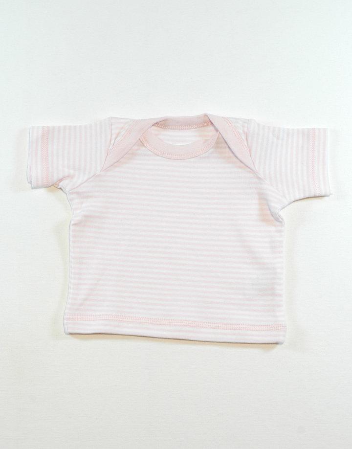 Rózsaszín-fehér póló
